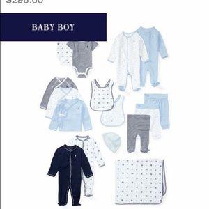 Ralph Lauren Baby Boy 16Pc Gift Box Set Pearl Blue